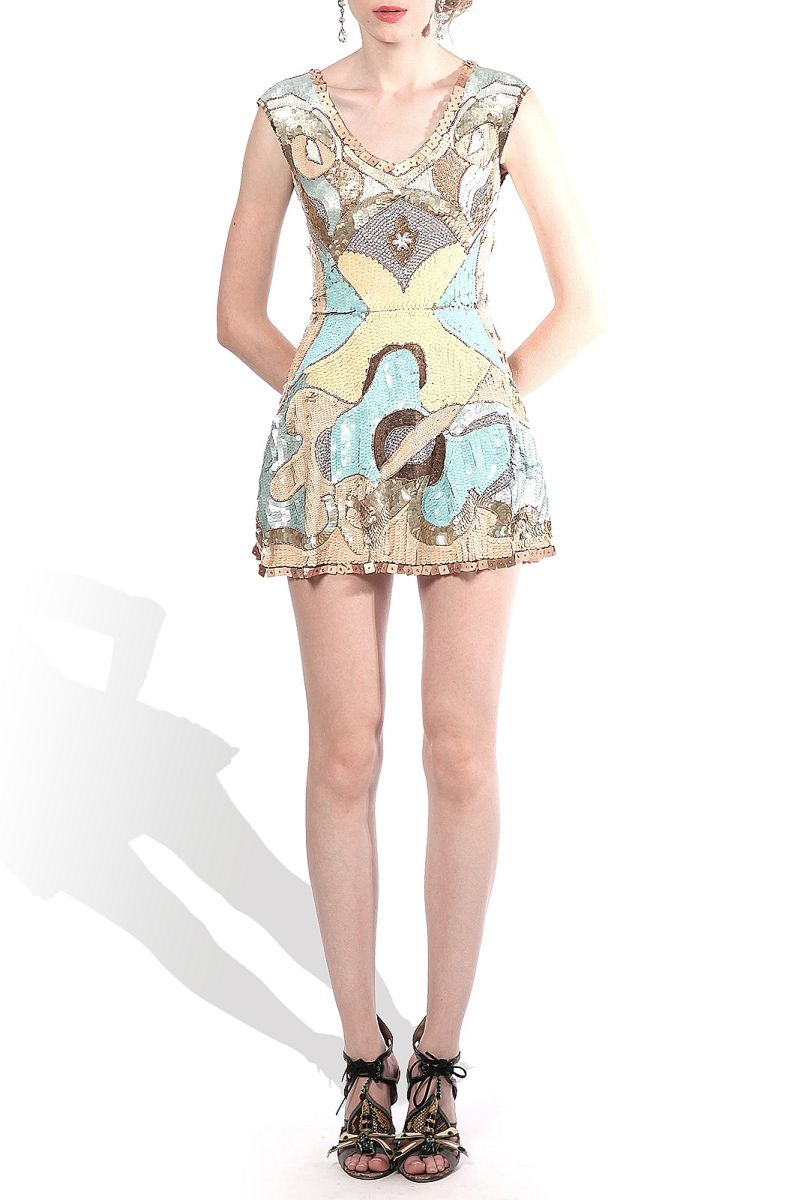 Elena Perseil: Embroided Short Dress