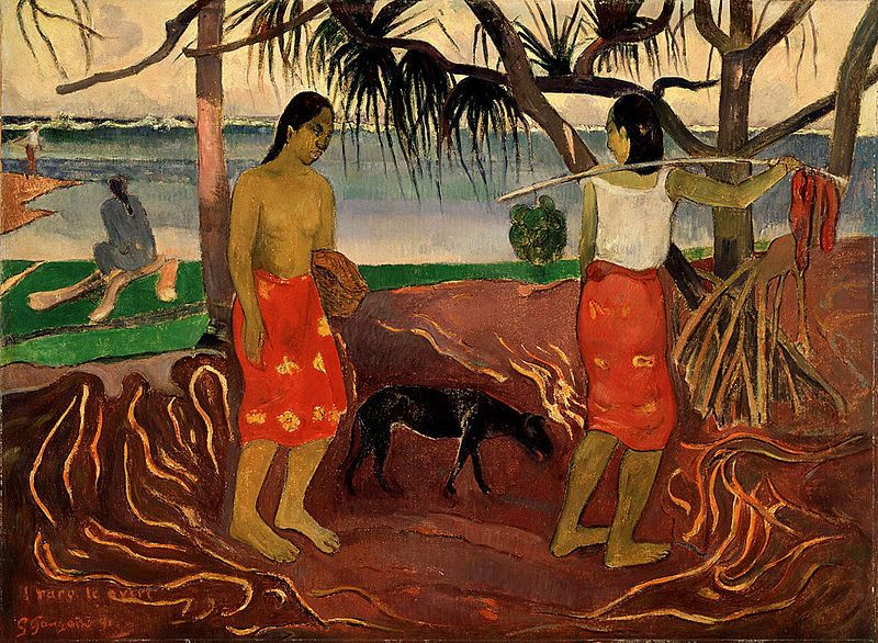 I Raro te Oviri (Under the Pandanus), 1891, Dallas Museum of Art