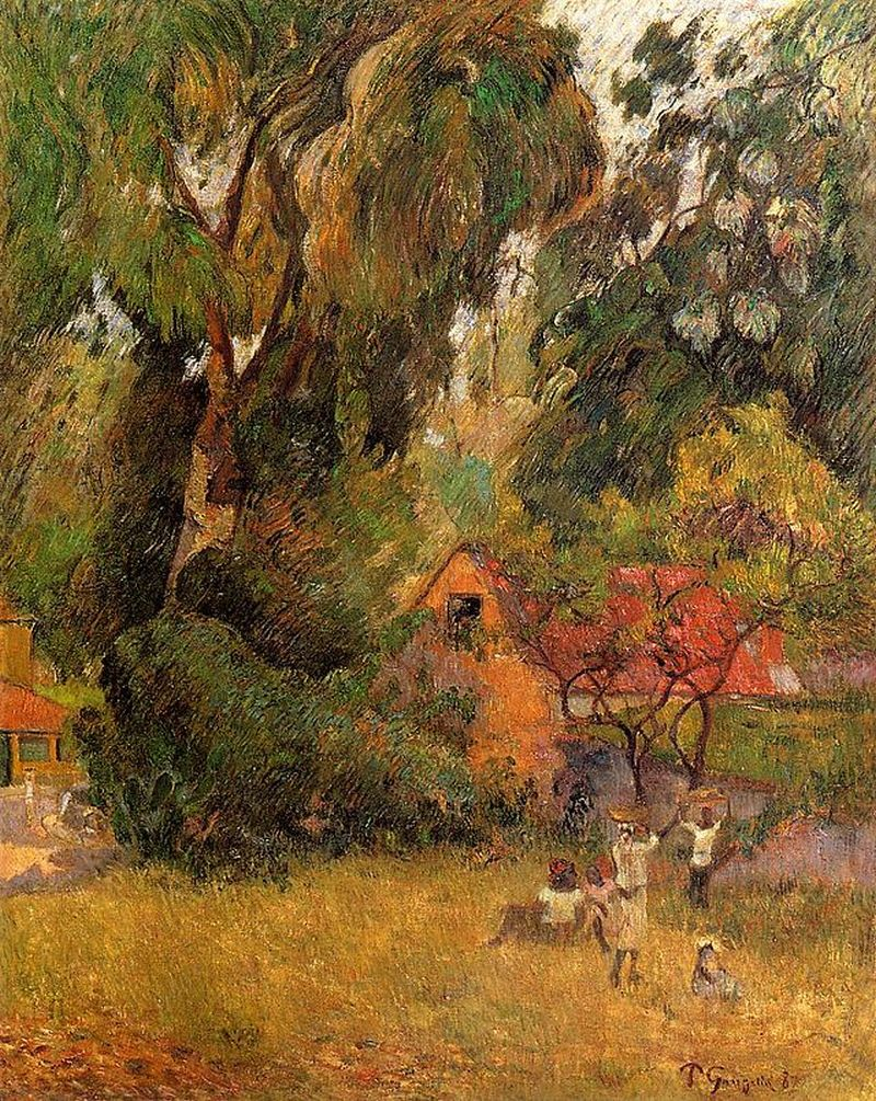 Huttes sous les arbres, 1887, Private collection, Washington