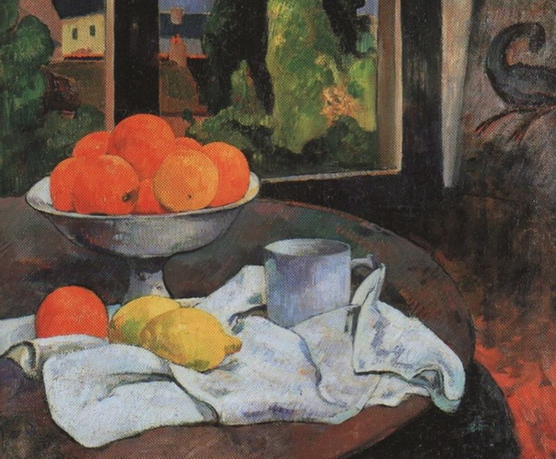 Still-Life with Fruit and Lemons (1880)